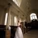 columbia missouri wedding photographer: bride in hall for ceremony