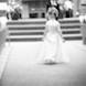 columbia missouri wedding photographer: flower girl black and white