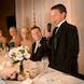 columbia missouri wedding photographer: reception young boy proposes toast