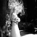 jefferson city missouri wedding photographer: bride black and white in garden